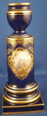 Antique Meissen Porcelain Scenic Candle Stick Holder Porzellan Kerzenhalter