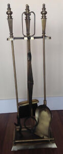 Fireplace tools - Bronze colored