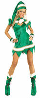Green Sexy Woman Elf Christmas Costume 25% OFF ALL HALLOWEEN