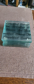 6 glass coasters set