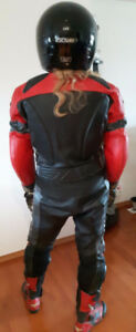 TEKNIC Schoeller 2 Piece Motorcycle Leathers Going to Lanley