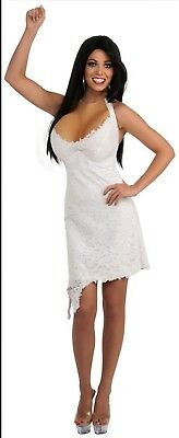 ersey Shore Halloween Costume Small S Small White Dress (New Jersey Halloween)