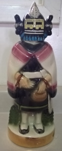 Vintage Ezra Brooks Genuine Hopi Kachina Maiden Whiskey Decanter