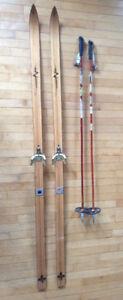 """Skis de fond Clément Le Nordique 202 (longueur 200 / 77"""")"""