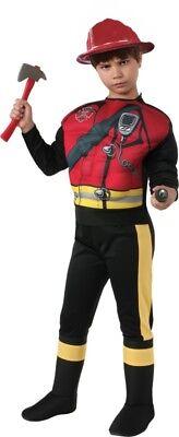 Kinder Muskel Brust Feuerwehrmann Kostüm mit / Hut und - Kostüm Mann Mit Brust