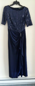 ROBE NAVY elegant- PROM, WEDDING, GALAS -RALPH LAUREN
