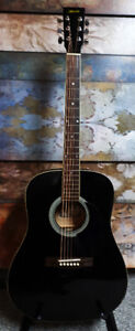 Black Ritmuller dreadnaught acoustic guitar Awesome Tone