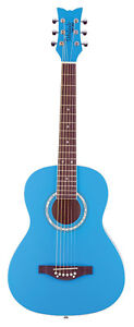 Daisy Rock, Debutante Acoustic Cotton Candy Blue Guitar