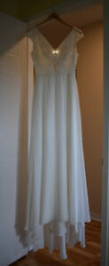 BRAND NEW - NEVER WORN - CUSTOM MADE WEDDING DRESS