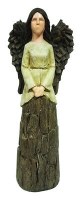 Infinity Cement Brown 17.32 In. Angel Statue