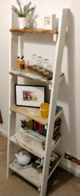 Stunning Hand-Made Ladder Shelf For Sale!!!