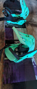 Ride Compact Snowboard 143cm with Forum bindings