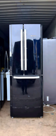 High Gloss Black Hotpoint American Fridge Freezer in Excellent Working