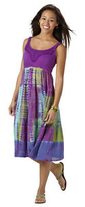 Lola P Women's Short Tie-Dye Dress Medium, New