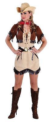 Cow Girl Kostüm Kleid Wilder Westen Saloon Damen Cowgirlkostüm Cowboy Indianer