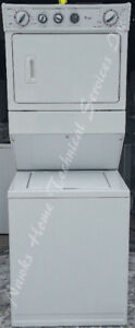 Whirlpool Large Stacking Laundry, 12 month  warranty