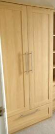 Mamas and Papas furniture (wardrobe, cotbed, drawers with changer top)