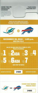 Miami at BUFFALO Parking Parking Pass (Week 17) for Sale--(Cash)