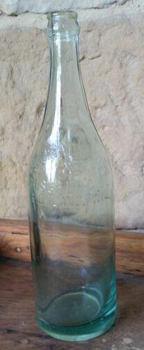 Semrad Bros & Pusch Brewing Beer Co Embossed Blue Glass Bottle Qt Highland WI