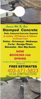 -- *** Impress with the best CONCRETE SERVISES *** -