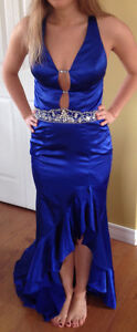 Royal Blue Dress with beading detail