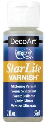 Acrylic Paint Varnish - DecoArt StarLite Clear Glittering Varnish Finish 2 oz For use over acrylic paint