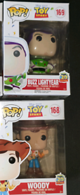 Funko pops buzz and woody toy story retired 20th anniversary
