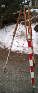 Vintage wooden Surveyors Tripods - 2 available