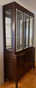 China Cabinet with Glass Shelves & Cutlery Drawer