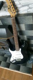 Left handed guitar black