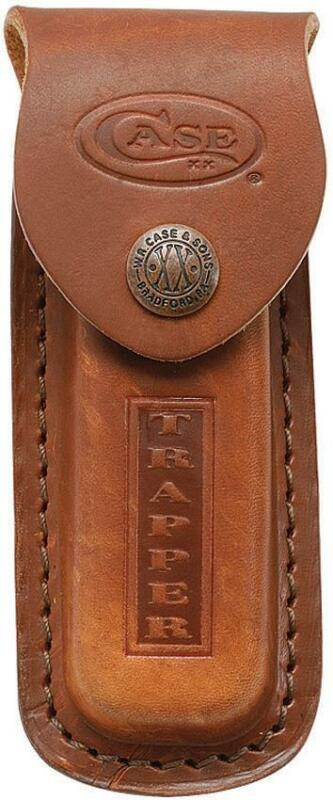 Case Trapper Brown Leather Sheath Case for Folding Pocket Knife XX USA 980