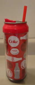 Coca Cola Coke Graphic Can Water Bottle Tumbler Chiller 473ml