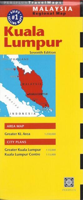 Periplus Kuala Lumpur Travel Map (Malaysia) *IN STOCK IN MELBOURNE - NEW*