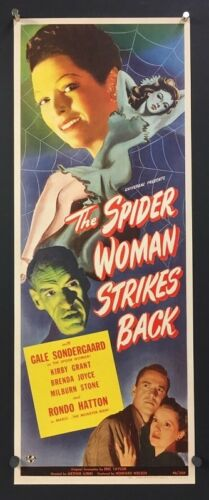 The Spider Woman Strikes Back Original Insert Movie Poster   *Hollywood Posters*