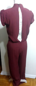 NEW Long Burgandy Bow-Tie Jumper with Peekaboo Back