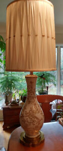 "39"" Gold embossed table lamp"