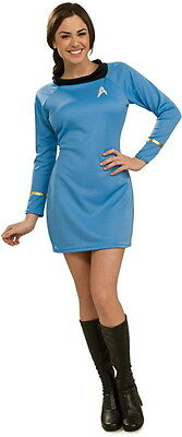 Star Trek Classic TV Series Deluxe Adult Science Uniform Blue Dress MEDIUM, NEW - Star Trek Blue Dress