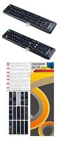 Remote Control for Brand TV LCD/LED/HD/3D samsung, panasonic,
