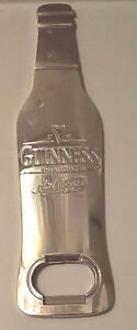 Guinness Draught Stout Beer Bottle Shaped Metal Bottle Opener
