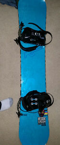 Ride 152 snowboard, ride LX bindings, forum boots combo