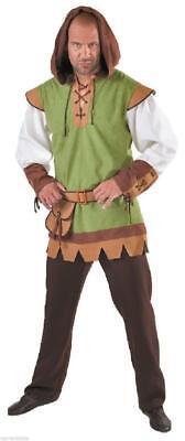 Robin Hood Peter Pan Jäger Kostüm Anzug Hut Herren Mittelalter Jägerkostüm Kleid ()