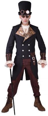 koko Kostüm Herren Gothic Steampunk Anzug Lord Hut Brille (Hut-brille)