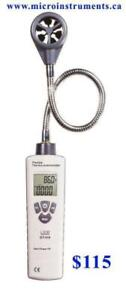 Anemometers Airflow Meters www.microinstruments.ca Vane Thermo Environmental Infrared Professional Calibrated Instrument