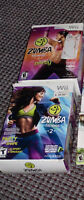 Wii dance excercise  video's ,  Wii ZUMBA 1 AND 2 / 15 each