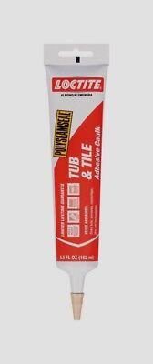 Loctite Acrylic Tub & Tile Adhesive Caulk ALMOND 5.5 oz. Mold Resistant 2138418 Tile Acrylic Caulk