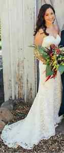 Strapless Lace Wedding Gown: Stella York