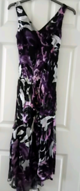 REDUCED - Dress (Size 10) + matching Stole/Scarf & Fascinator.