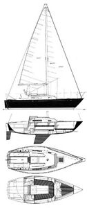 C&C 24' Sailboat with trailer