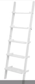 A new stylish white finish ladder style 5 shelve unit.