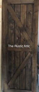 Handcrafted Custom Sliding Barn Door 30 x 80 Ready to Hang